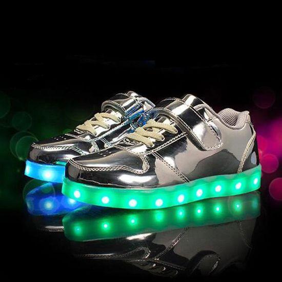 Baskets enfants led chaussures Lumineuse Garçons Fille USB Charge ...