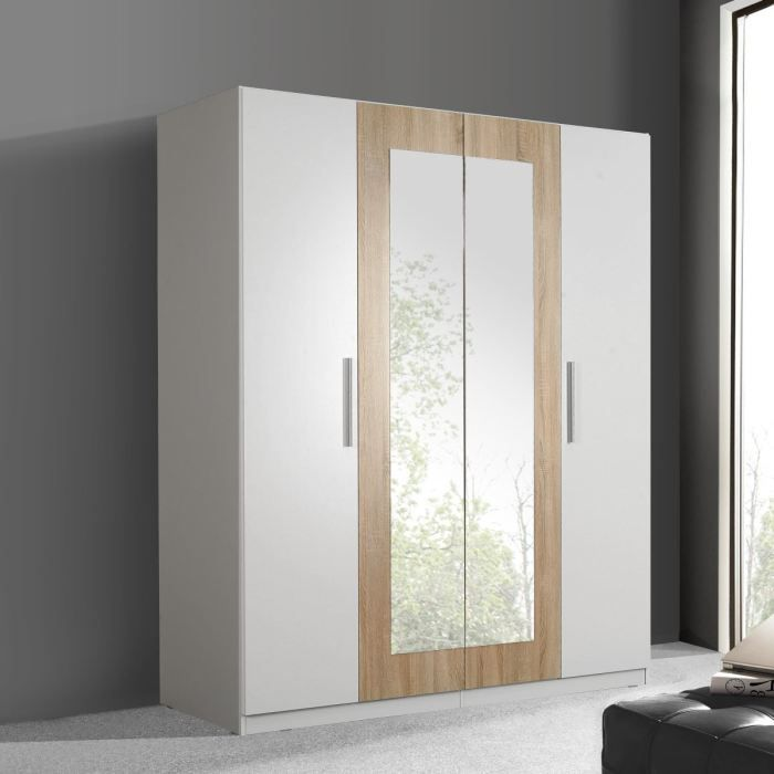 finlandek armoire siisti 180x212 blanc ch ne achat vente armoire de chambre cleo armoire. Black Bedroom Furniture Sets. Home Design Ideas