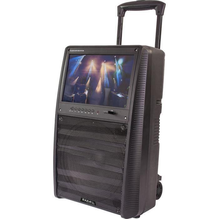 """ENCEINTE ET RETOUR IBIZA SOUND 17-2510 Enceinte portable autonome 12"""""""
