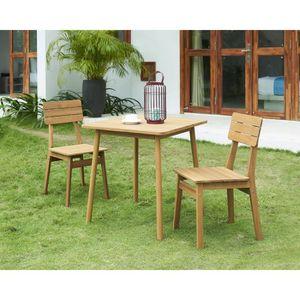 SALON DE JARDIN  Ensemble repas de jardin - table 70x70cm et 2 chai