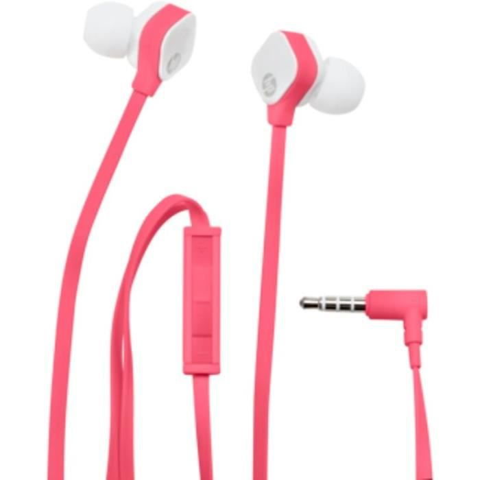 HP Oreillettes intra-auriculaires - Stereo Headset H2310 - Fuchsia / Blanc