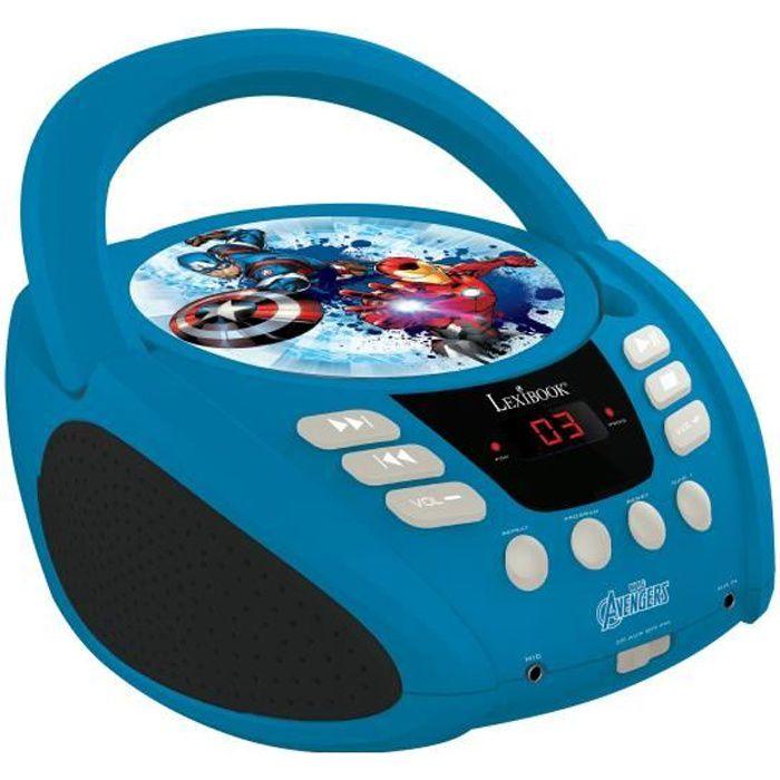 LEXIBOOK Avengers Lecteur CD Portable pour enfant - RCD108AV - 3 ans et +