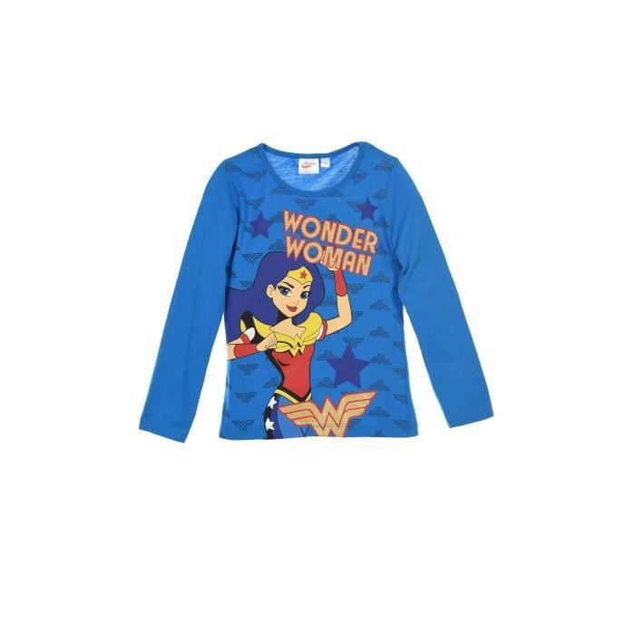 DC SUPER HERO GIRLS T-shirt Bleu Enfant Fille