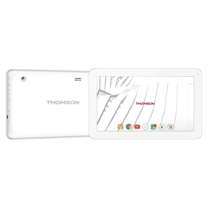 THOMSON Tablette tactile TEO10RBK8CD - 10'' (1024x600px) - 1 Go de RAM - Androïd 7.1 - Allwinner A33 - Stockage 8 Go - Wifi - Blanc