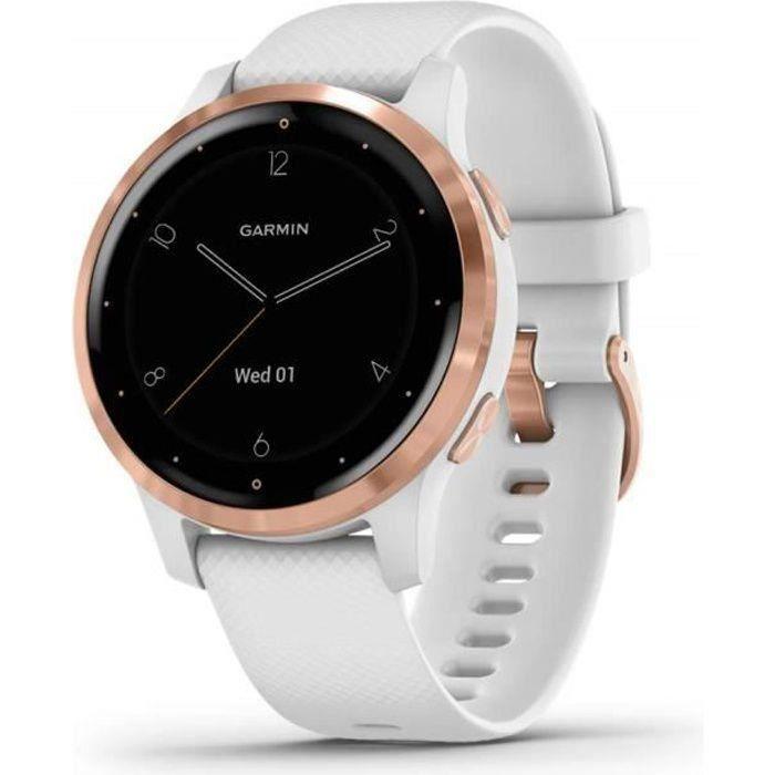 Garmin - Vivoactive 4S - Montre connectée GPS Multi-sports & Santé - Musique au poignet, Garmin Pay - Autonomie Longue Durée