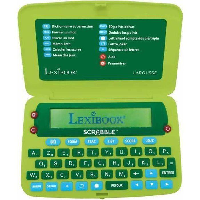 SCRABBLE Dictionnaire électronique officialel LEXIBOOK - nouvelle édition