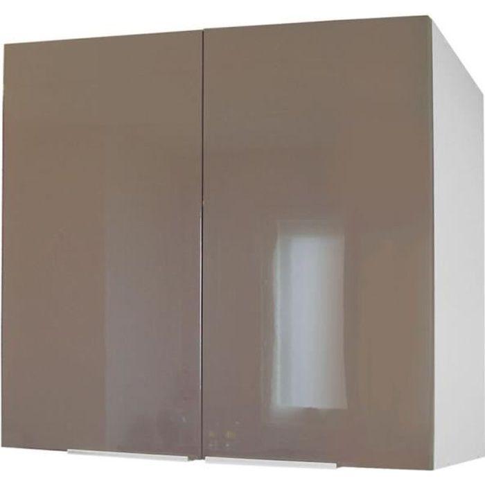 POP Meuble haut de cuisine 80 cm - Taupe Laqué