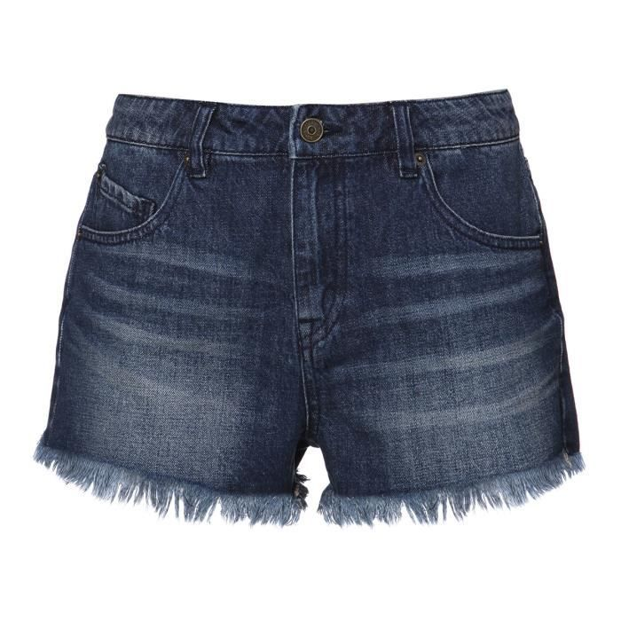 VOLCOM Short High et Waisted - Femme - Bleu
