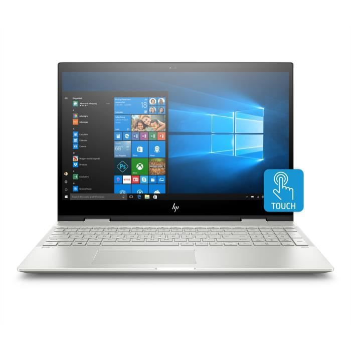 HP PC Portable Envy x360 15-cn0008nf - 15,6- FHD - Intel Core i7-8550U - RAM 12Go - Stockage 1To HDD + 128Go SSD - MX150 4Go - W10