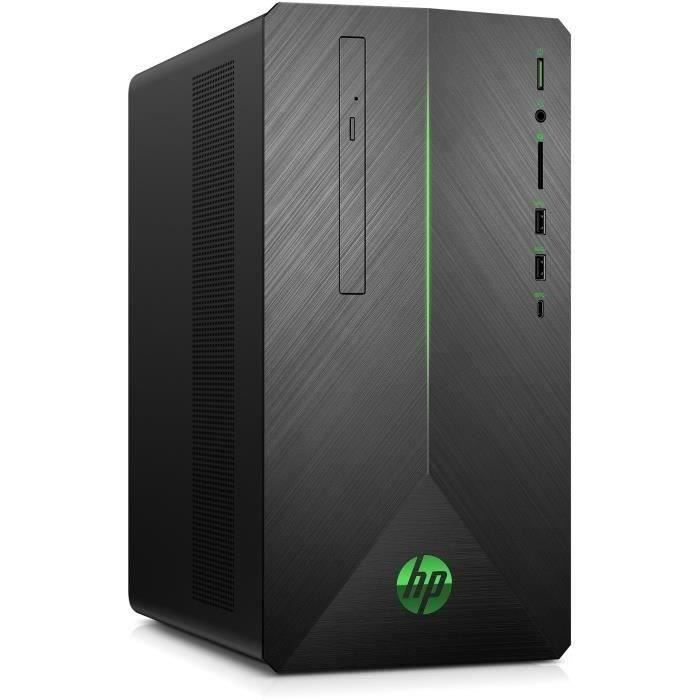 Hp Pc de Bureau Pavilion Gaming Hp690 0798nf Amd Ryzen 5 Ram 8Go Disque Dur 1To Hdd + 128Go Ssd Gtx 1050 2Go Windows 10
