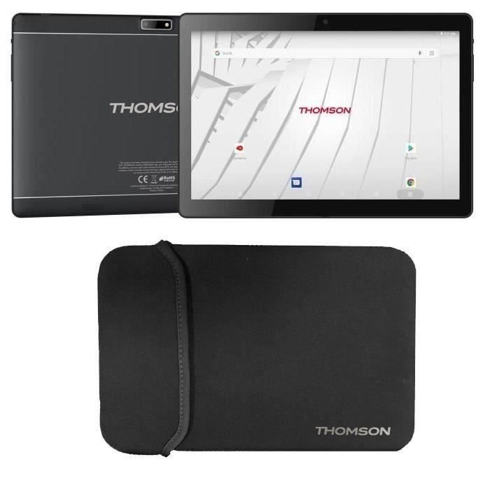 THOMSON Tablette tactile TEO10S-RK2BK32S 10.1- - RAM 2Go - Androïd 7,1 - Quad Core CPU - Stockage 32Go - Wifi + Housse