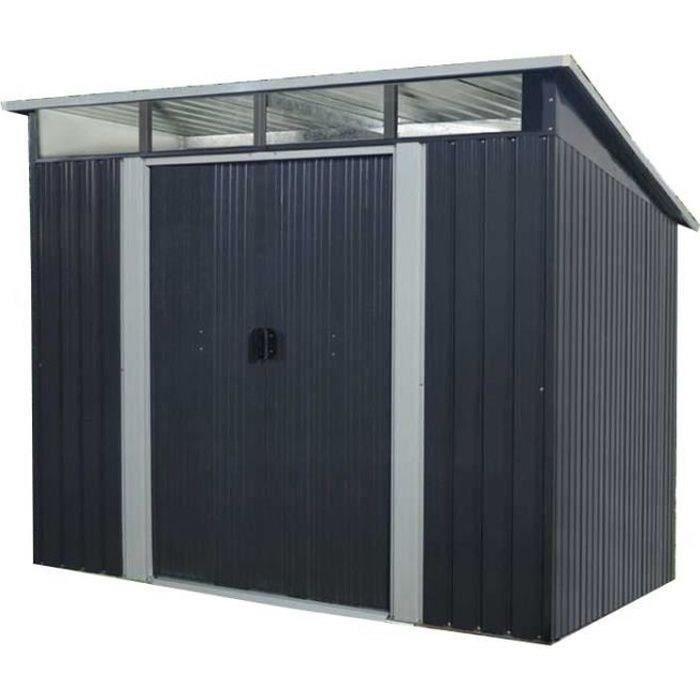 Abri de jardin acier 4,59 m2. avec kit d'ancrage inclus