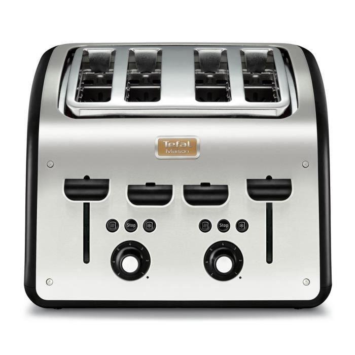 TEFAL TT770811 Grille-pain 4 fentes - Inox/ Noir