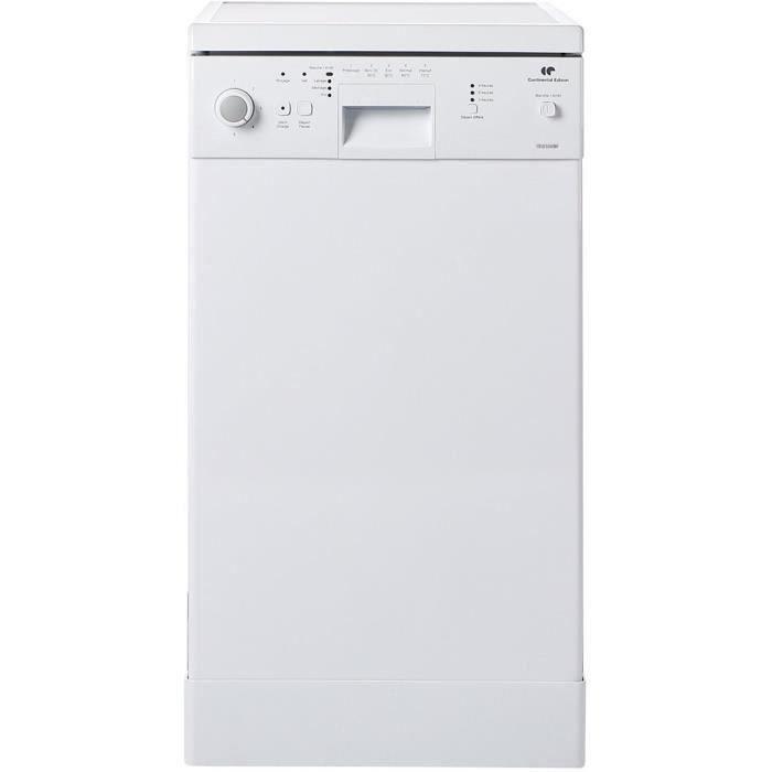 CONTINENTAL EDISON CELV1048W8 - Lave vaisselle posable - 10 couverts - 48 dB - A+ - Larg 45 cm - Blanc