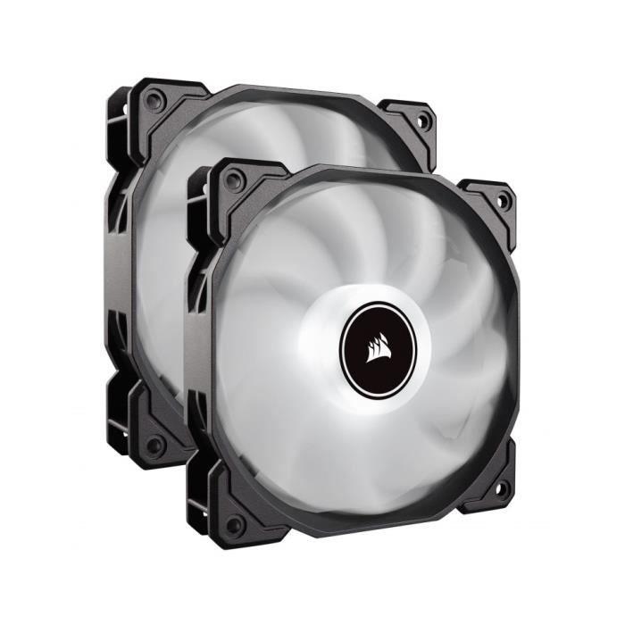 Corsair Ventilateurs de boitier Air Series Af140 Low Noise 140 mm Blanc (Pack de 2) (Co 9050088 Ww)