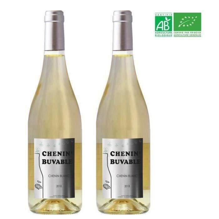 2ème à -50% - Chenin blanc Buvable 2019 Anjou - Vin de Loire
