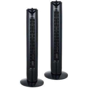 VENTILATEUR OCEANIC Pack de 2 ventilateurs colonne 45 W - Ø 81