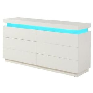 commode blanche led