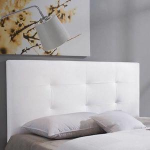 TÊTE DE LIT BARCELONA Tête de lit 150 cm en simili - Blanc