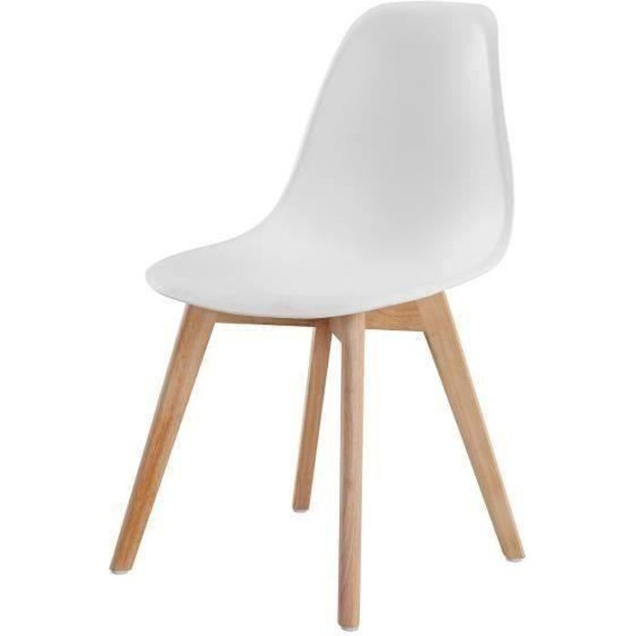 sacha chaise de salle manger design scandinave blanc achat vente chaise blanc coque en. Black Bedroom Furniture Sets. Home Design Ideas
