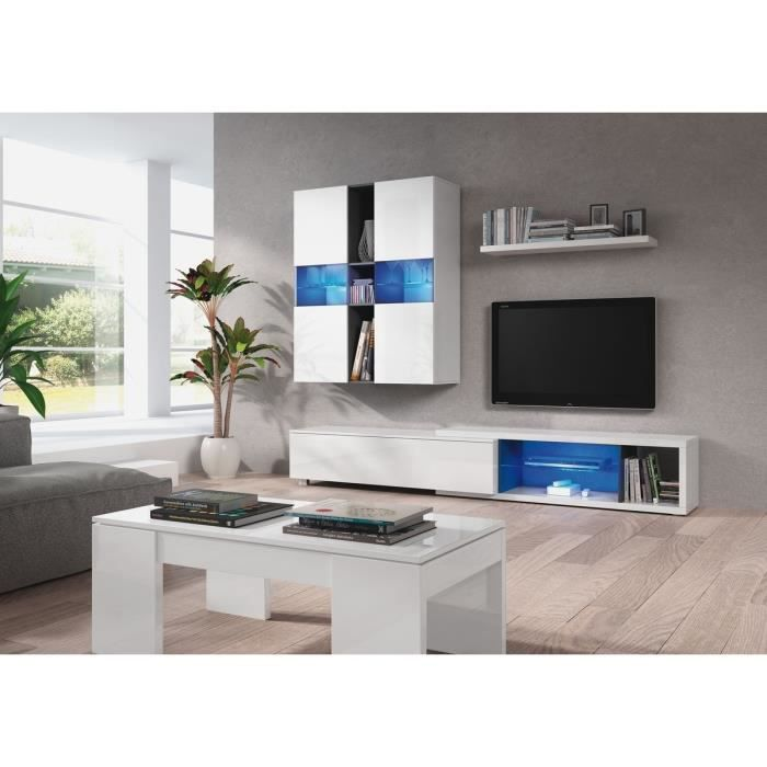 noon meuble de s jour 240 cm avec clairage led achat vente meuble tv noon meuble de s jour. Black Bedroom Furniture Sets. Home Design Ideas