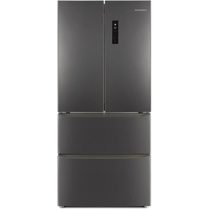 RÉFRIGÉRATEUR CLASSIQUE SCHNEIDER SCWFD408BS - Réfrigérateur multiportes -