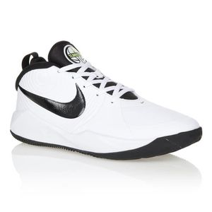 BASKET MULTISPORT NIKE Baskets Team Hustle D 9 - Femme - Blanc et No