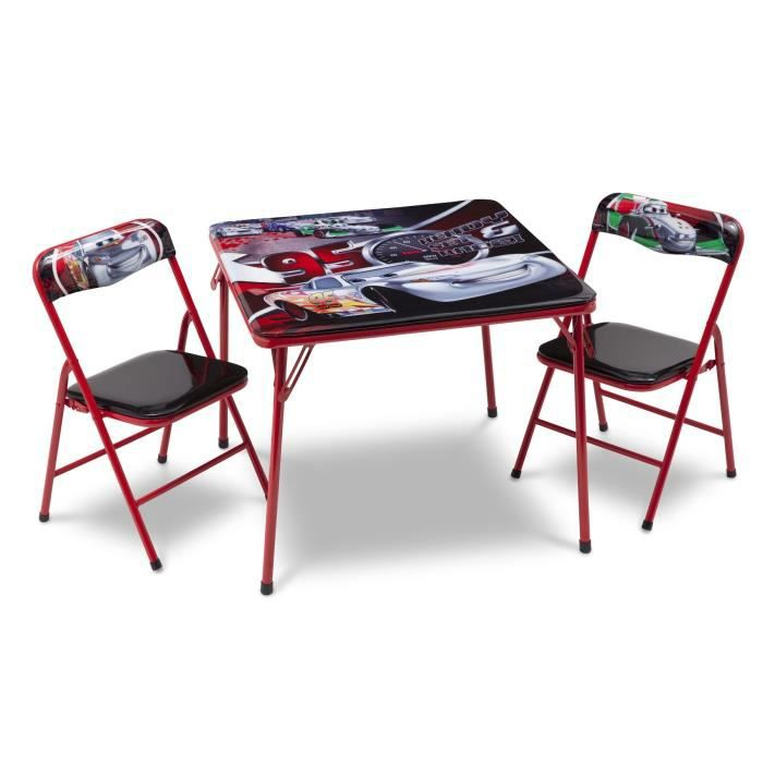 Delta Children Cars Table Enfant Et 2 Chaises Pliantes
