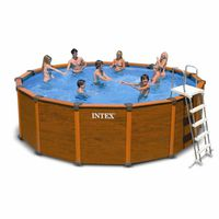 KIT PISCINE  Kit piscine aspect bois Sequoia Spirit Ø 4,78 m