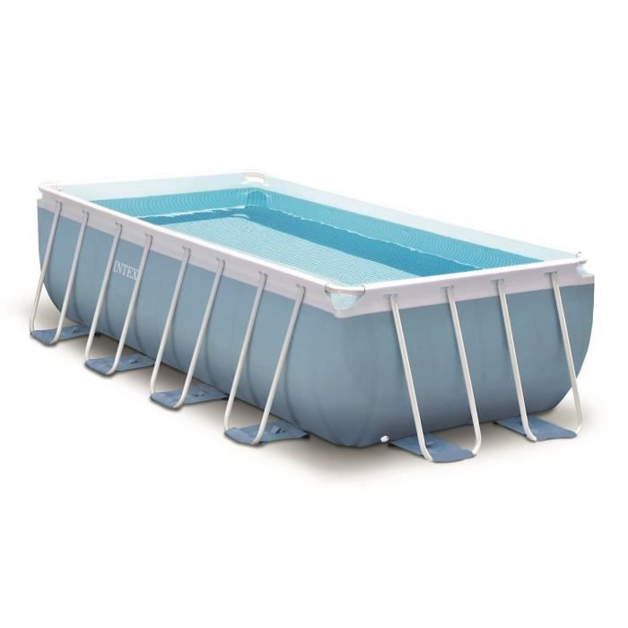 Intex kit piscine tubulaire rectangulaire 488x244x107 cm achat vente pisc - Piscine tubulaire discount ...
