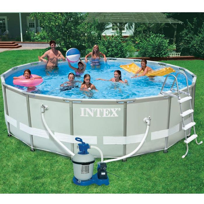 intex kit piscine tubulaire 4 88x1 22m ultraframe achat
