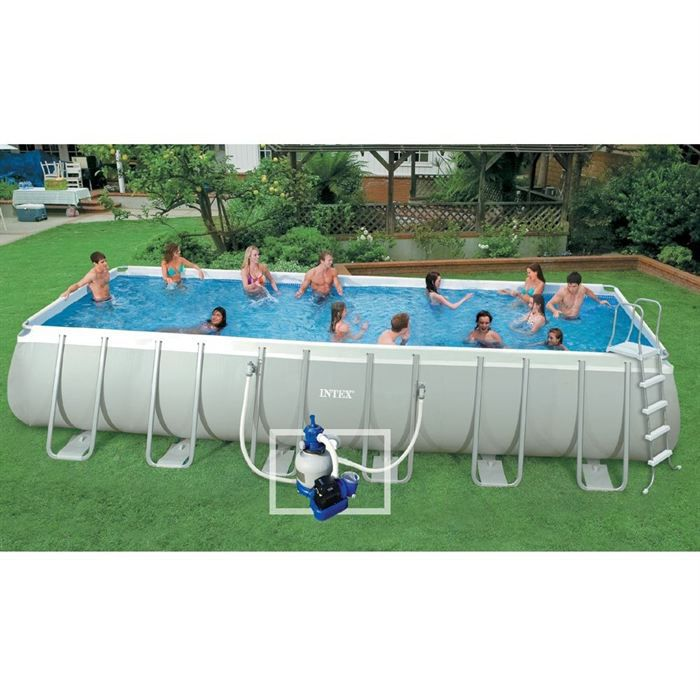 Intex kit piscine tubulaire 7 32x3 66m ultrasilver achat for Piscine intex tubulaire en solde