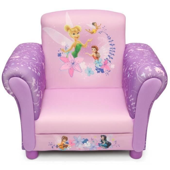 les fees fauteuil enfant chesterfield clochette rose et violet achat vente fauteuil canap. Black Bedroom Furniture Sets. Home Design Ideas