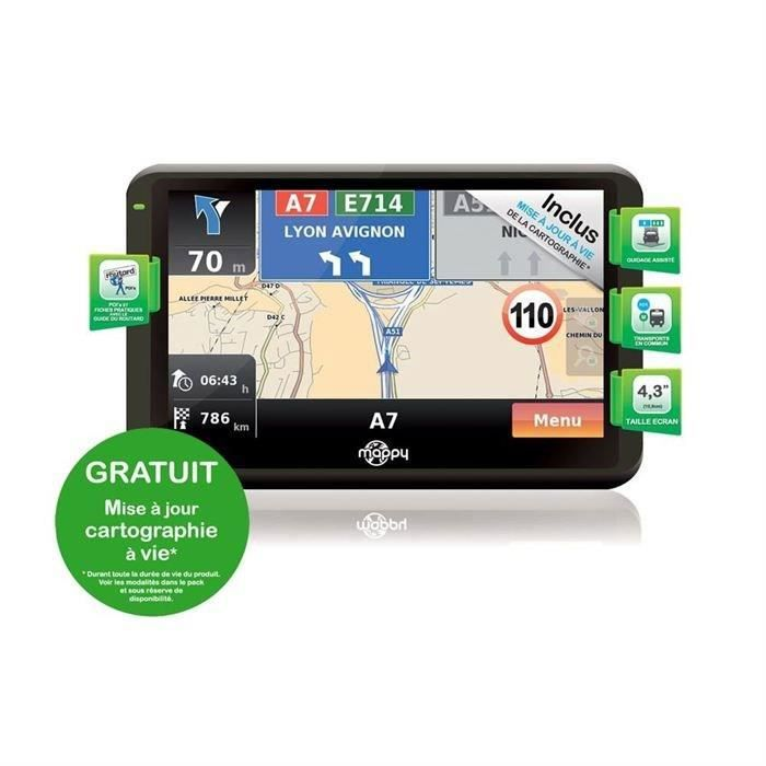 achat carte europe gps mappy