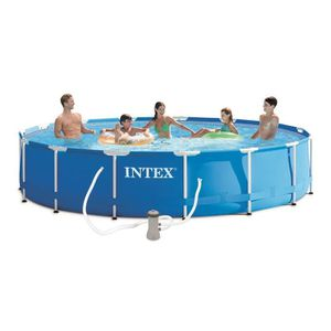 PISCINE INTEX Kit Piscine tubulaire ronde Ø4,57 x H0,84m