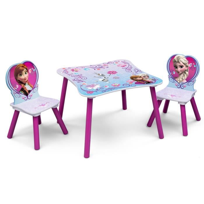 la reine des neiges table enfant et 2 chaises enfant en bois achat vente table jouet d. Black Bedroom Furniture Sets. Home Design Ideas