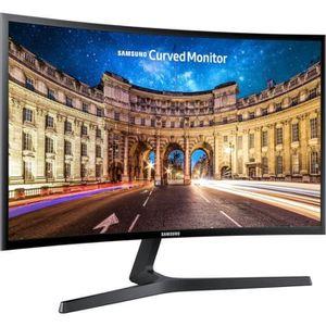 SAMSUNG C24F396 - Ecran Gamer PC Incurvé 24 pouces Brillant 1920 x 1080 FHD - Dalle VA - 144 Hz, 5 ms, TFT, LED - HDMI / DVI / VGA -