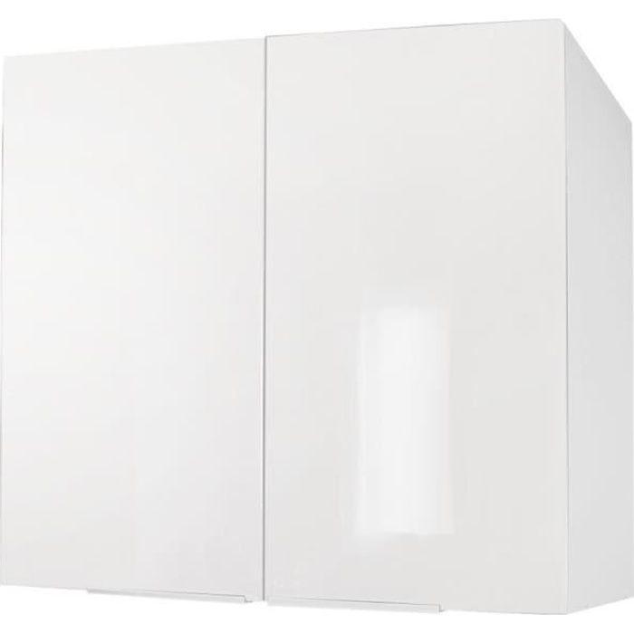 ÉLÉMENTS HAUT POP Caisson haut de cuisine L 80 cm - Blanc brilla