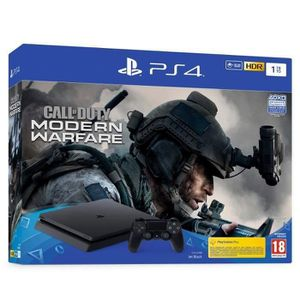 CONSOLE PS4 PS4 Slim 1To Noire + Call of Duty Modern Warfare