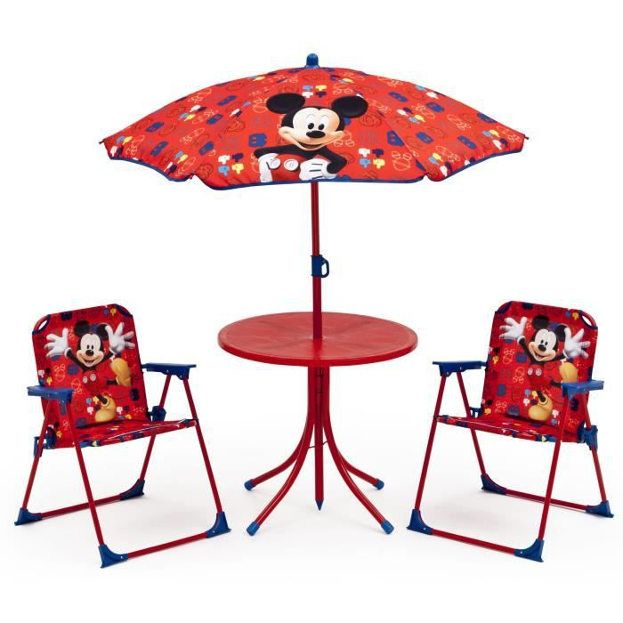 mickey ensemble de jardin camping enfant table et 2 chaises achat vente salon de jardin. Black Bedroom Furniture Sets. Home Design Ideas