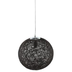 LUSTRE ET SUSPENSION BAYA Lustre - suspension boule rotin Ø35cm noire.