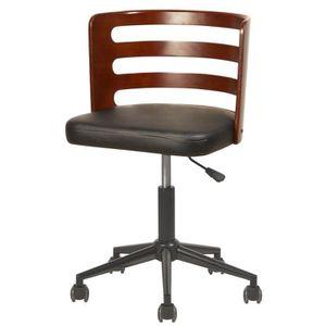 CHAISE DE BUREAU SAMANTHA Chaise de bureau - Simili noir - Style co