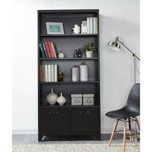 bibliotheque style industriel achat vente bibliotheque. Black Bedroom Furniture Sets. Home Design Ideas