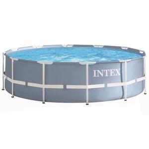PISCINE INTEX Kit piscine tubulaire ronde Prism Frame Ø 3,