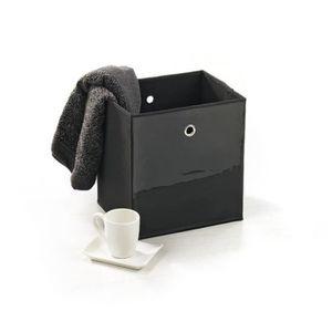 BOITE DE RANGEMENT Panier de rangement vinyle 33 cm noir