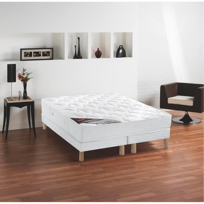 epeda ensemble matelas sommiers 160x200cm 24cm ressorts ensach s ferme achat vente. Black Bedroom Furniture Sets. Home Design Ideas