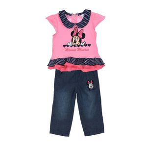 c80b66d2a1b9a Ensemble de vêtements MINNIE Ensemble T-shirt Manches Courtes Rose + Pan