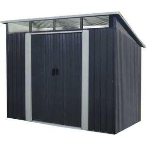 ABRI JARDIN - CHALET Abri de jardin en métal 4,59m² - 2 portes coulissa