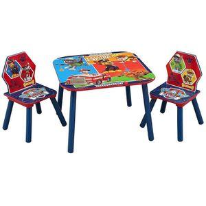 TABLE ET CHAISE PAT PATROUILLE - Table enfant et 2 chaises enfant