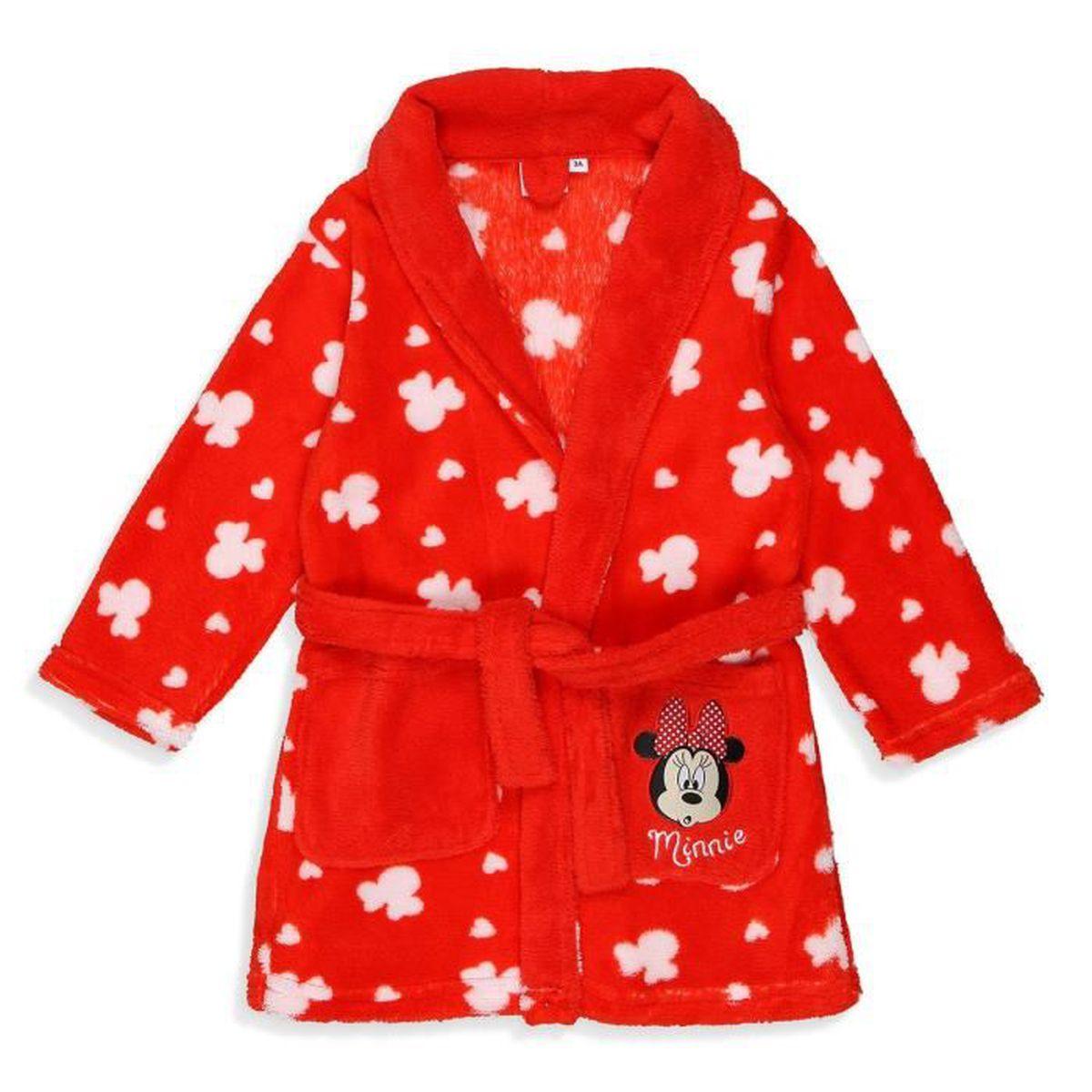 PYJAMA MINNIE Robe de Chambre Coral Fille 100% Polyester